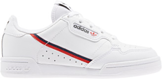 adidas Continental 80 Running Shoes - White / Scarlet Collegiate Navy Blue