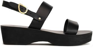 Ancient Greek Sandals Dinami Leather Platform Slingback Sandals