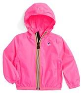 K-Way Infant Girl's 'Claude 3.0' Hooded Waterproof Windbreaker Jacket