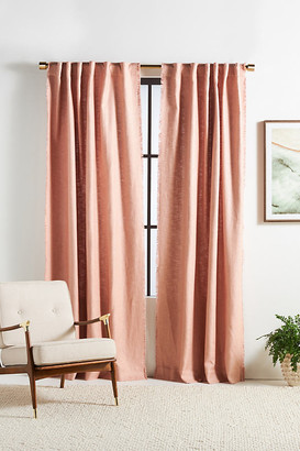 Anthropologie Luxe Linen Blend Curtain By in Pink Size 108""