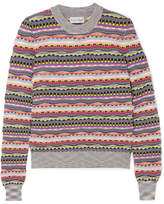 Carven Textured Cotton-blend Sweater - Gray
