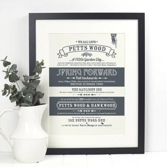 Octavia Plum - Petts Wood Print - 30x40cm | white | GREY - White/White