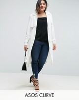 Asos Trench in Structured Crepe with Oversized Pockets
