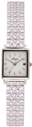 Bermuda Watch Company Quaintrelle Square White Silver Link 22 24Mm