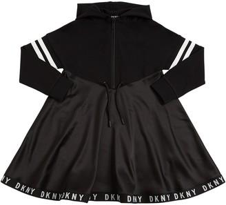 DKNY Milano Jersey & Satin Sweat Dress