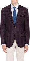 Isaia Men's Sanita Plaid Wool Two-Button Sportcoat-NAVY