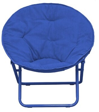 Harriet Bee Phillip Faux Fur Saucer Kids Chair Color: Navy