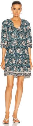 Natalie Martin Stevie Dress in Vintage Flowers Turquoise | FWRD