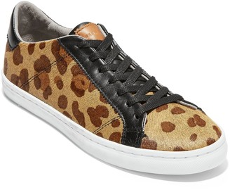 Cole Haan Margo Leopard Calf Hair Lace-Up Sneaker