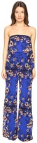 Fuzzi Strapless Flower Jumpsuit Women's Jumpsuit & Rompers One Piece