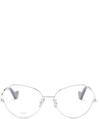 Loewe Round Metal Glasses - Silver