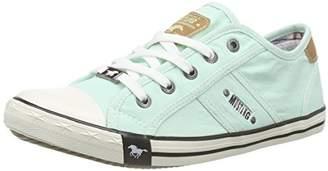 Mustang 1099-302-702, Women's Low-Top Sneakers, Green (702 lindgrün), (37 EU)