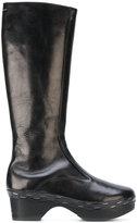 MM6 MAISON MARGIELA platform boots - women - Leather/rubber - 38