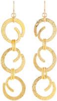 Devon Leigh Textured Swirl Chain Drop Earrings