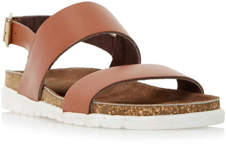 Dune MENS ICE POP - Double Strap White Sole Sandal