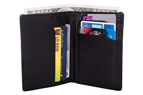 68bfa56b44b1 Slim Wallet with Money Clip Finest Genuine Leather RFID Blocking Minimalist  Bifold for Men...