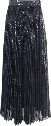 MSGM Black Polyester Pleated Skirt
