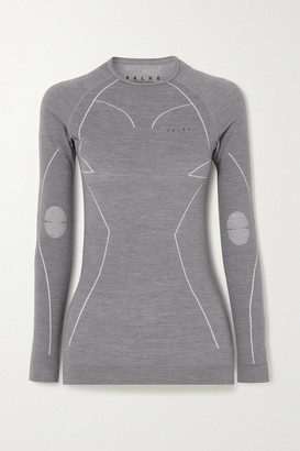 FALKE ERGONOMIC SPORT SYSTEM Wool-blend Top - Dark gray