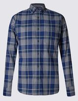 Marks and Spencer Pure Cotton Long Sleeve Gingham Shirt
