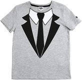 Karl Lagerfeld Tie Printed Cotton Jersey T-Shirt