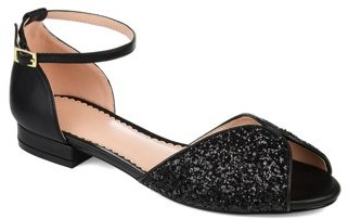 Brinley Co. Womens Peep-toe Glitter Pump