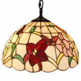 AMORA Amora Lighting AM077HL14 Tiffany Style Floral Hanging Lamp 14 Inches