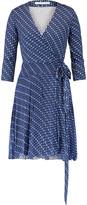 Diane von Furstenberg Irina printed silk-jersey and silk-crepe mini wrap dress