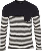 Oxford Alex Stripe L/S T-Shirt Nvy/Wht X
