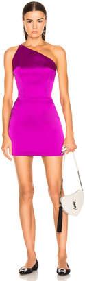 Rasario One Shoulder Mini Dress in Purple | FWRD