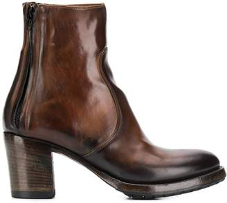 Silvano Sassetti mottled tan ankle boots