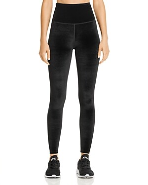 Beyond Yoga High-Rise Midi Velvet Leggings