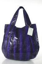 Beirn Purple Markings Water Snakeskin Jenna Hobo Tote Handbag New With Tags