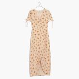 Madewell Silk Wrap Maxi Dress in Field Bouquet