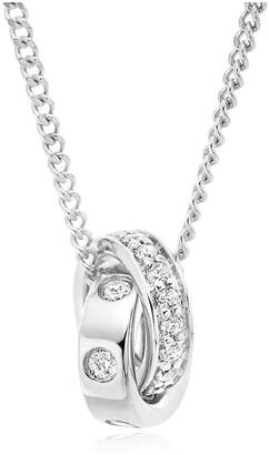 Beaverbrooks 9ct White Gold Diamond Pendant