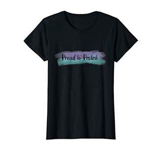 Womens Proud to Protest - Pastel T-Shirt T-Shirt