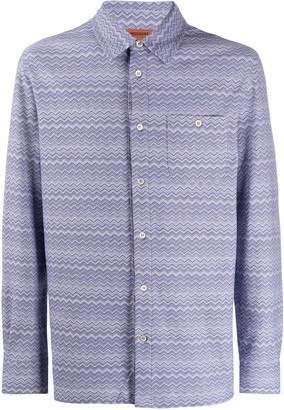 Missoni Chevron-Print Cotton Shirt