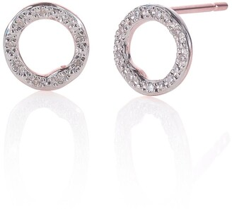 Monica Vinader 'Riva' Circle Stud Diamond Earrings