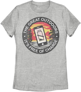 """Juniors' Fifth Sun """"The Great Outdoors - It's Free Of Charge"""" Graphic Tee"""