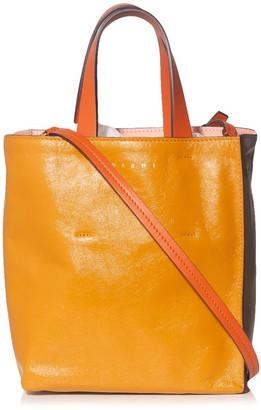 Marni Museo Shopping Bag in Mustard/Grey