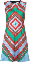 Diane von Furstenberg striped dress - women - Silk/Polyester/Spandex/Elastane/Wool - 8
