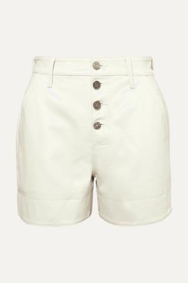 RtA Dash Leather Shorts - Cream