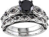 Black Diamond MODERN BRIDE Midnight 1 3/8 CT. T.W. Color-Enhanced 10K White Gold Bridal Set