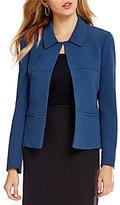 Preston & York Odelia Textured Stretch Crepe Collared Jacket