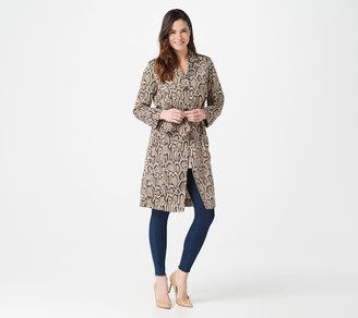 Lisa Rinna Collection Printed Woven Trench Duster