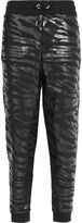Kenzo Printed Cotton-jersey Track Pants - Black