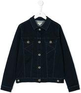Kenzo Teen stitched denim jacket - kids - Cotton/Polyester/Spandex/Elastane/Viscose - 14 yrs