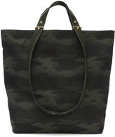 Haerfest Green Jacquard Camouflage H6 Tote Bag