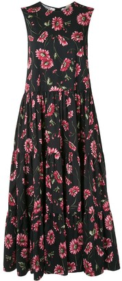 Adam Lippes Daisy-Print Maxi Dress