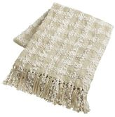 Pier 1 Imports Ivory Knit Checkered Throw