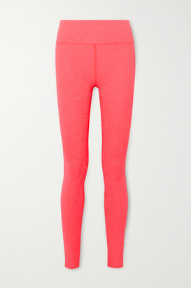 Twenty Montreal Pollock 3d Active Stretch Jacquard-knit Leggings - Pink